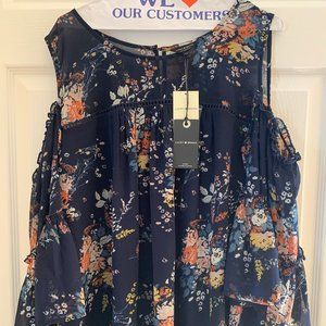 LUCKY BRAND, New, plus size, cold-shoulder blouse